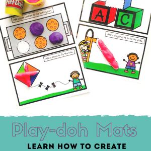 Pre-Writing Shape Play-Dough Mats