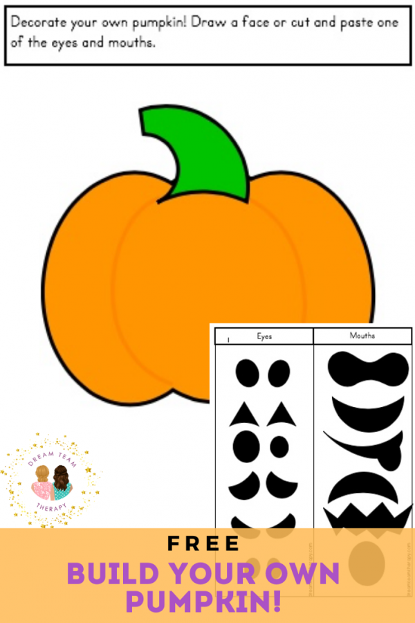 Free pumpkin themed printable to teach kids 6 basic emotions! It includes cutting, coloring, and craft worksheets. It's perfect for making a paper Jack-O-Lantern for Halloween! #halloween #pumpkin #jackolantern #emotions #feelings #regulation #selfregulation #finemotor #visualmotor #cutting #printable #occupationaltherapy #speechtherapy #worksheet #activitiesforkids #activities