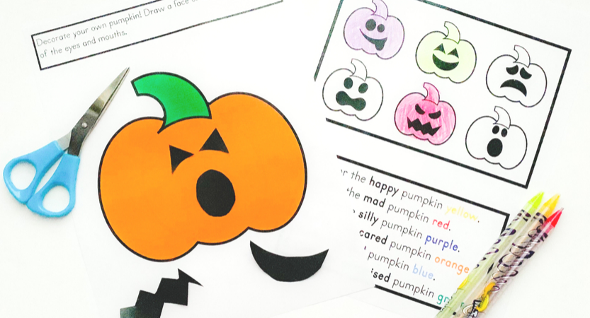 Free Pumpkin Printable for Learning Emotions