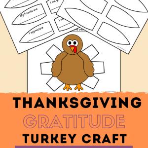 Thanksgiving Gratitude Turkey Craft