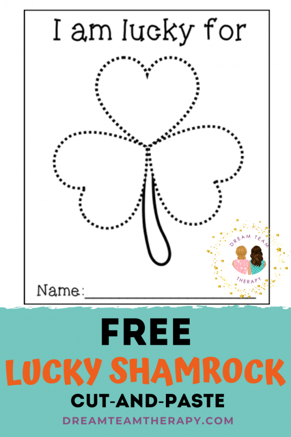 Free lucky shamrock activity for St. Patrick's Day! Cut out and decorate the clover leaves with what makes you lucky! Perfect for kids of all ages!