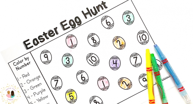 Color by Number Easter Egg Hunt