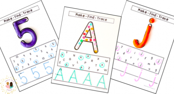 Free uppercase and lowercase letter and number tracing sheets for kids!
