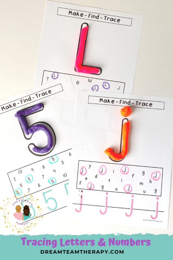 Enjoy these uppercase and lowercase letter and number tracing sheets for kids! Have fun learning through making, finding, and tracing. It's the perfect fine motor, visual motor, and recognition activity.